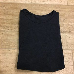 Lululemon Long Navy SLeeve Mens Shirt Medium